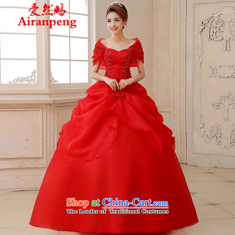 Love So new bride Peng wedding dresses genuine wedding package shoulder wedding classic style hot wedding photography bride replacing ER90 Lisa, child-care apparel red figure聽S return package