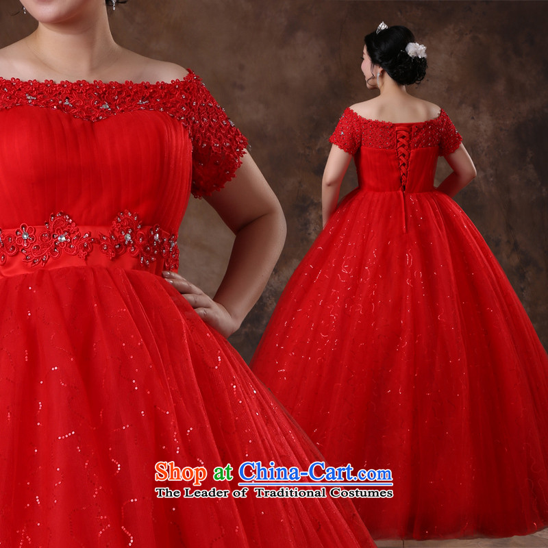 Shared Keun guijin 2014 new large wedding thick MM red to align the wedding wedding package shoulder strap behind the video thin bhs70 large red�XXL 3 days scheduled from Suzhou Shipment