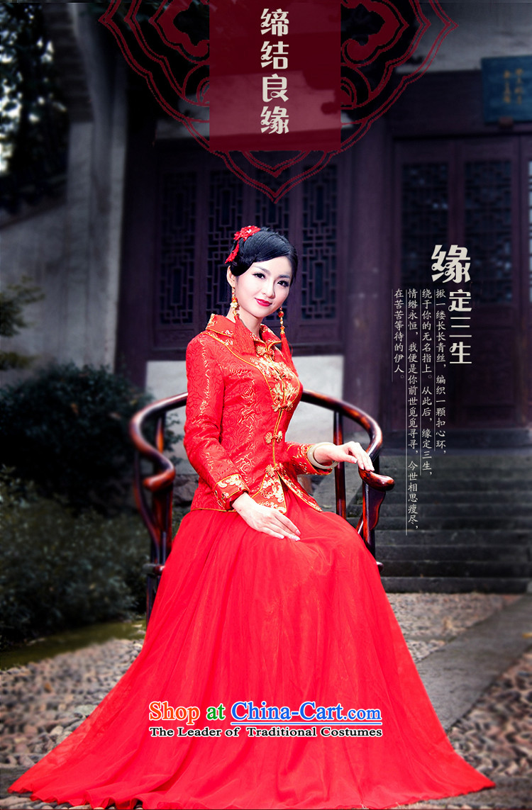 After a new wind autumn and winter bride folder cotton dress chinese red color wedding package long-sleeved dress cheongsam dress large 4068th 4068th XXL picture, prices, brand platters! The elections are supplied in the national character of distribution, so action, buy now enjoy more preferential! As soon as possible.