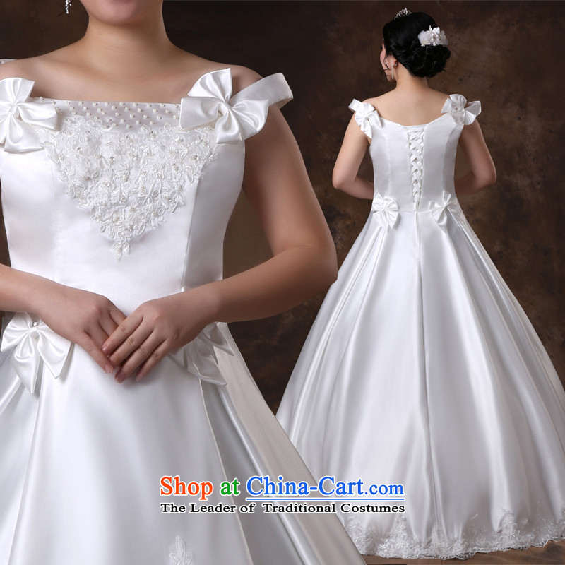 Shared large guijin Keun-young wedding word shoulder graphics thin xl plus obesity Tien mm wedding m White�XXXXL scheduled 3 days from Suzhou Shipment