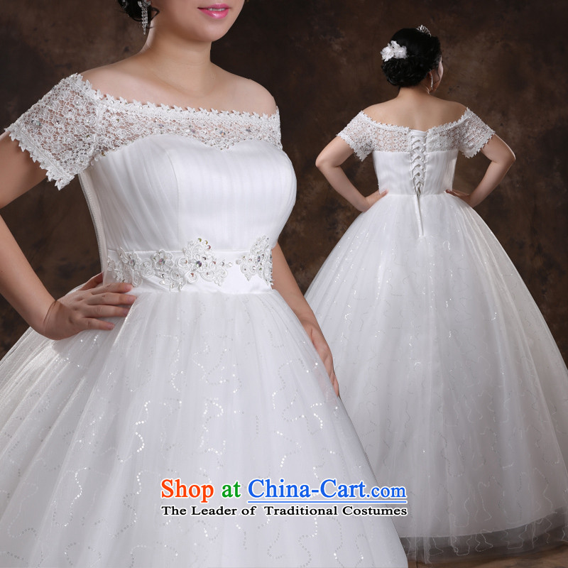 Guijin Keun professionally produced shared large?2014 autumn and winter, tie the video version thin xl plus obesity Tien mm wedding m White?XXXXL scheduled 3 days from Suzhou Shipment