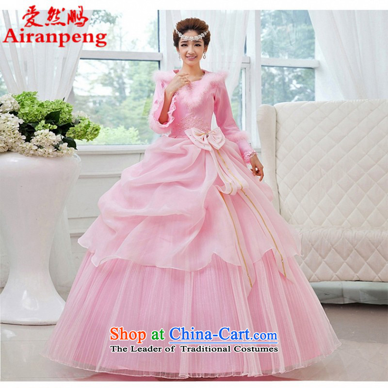 Love So peng lai Sa Fei-winter winter bride TY00 wedding dresses, HOT SALES NETWORK style wedding photography 2014 new pink figure�XL package returning
