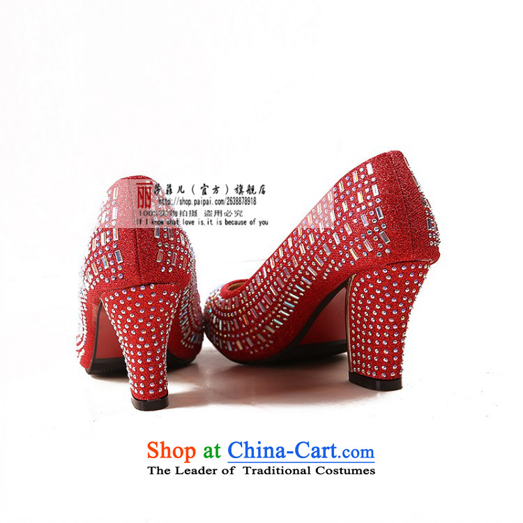 The Bride In The Golden Shoe marriage with rough shoes with red shoe size code marriage round head 6 cm with gold, 39 pictures, prices, brand platters! The elections are supplied in the national character of distribution, so action, buy now enjoy more preferential! As soon as possible.