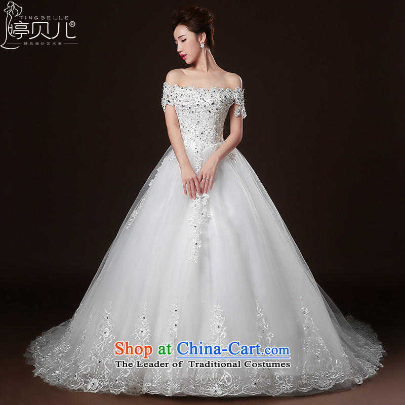 Beverly Ting Wedding 2015 new word winter shoulder bags shoulder length tail wedding chest-style with lace brides fall, diamond wedding dress white tailored