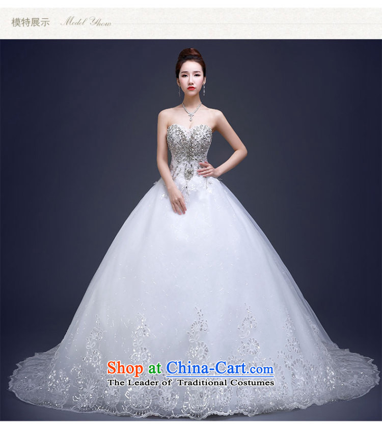 Beverly Ting wedding dresses new stylish Korean 2015 Long Tail bride anointed chest water yard white drill large retro winter White聽M picture, prices, brand platters! The elections are supplied in the national character of distribution, so action, buy now enjoy more preferential! As soon as possible.