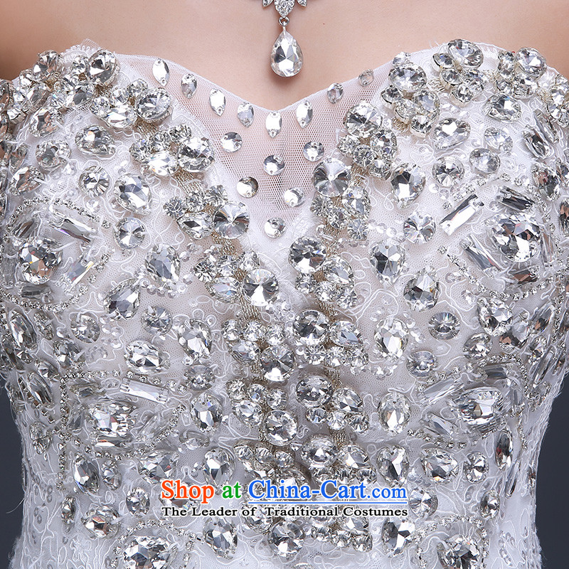 Beverly Ting wedding dresses new stylish Korean 2015 Long Tail bride anointed chest water yard white drill large retro white winter聽M, Beverly (tingbeier ting) , , , shopping on the Internet