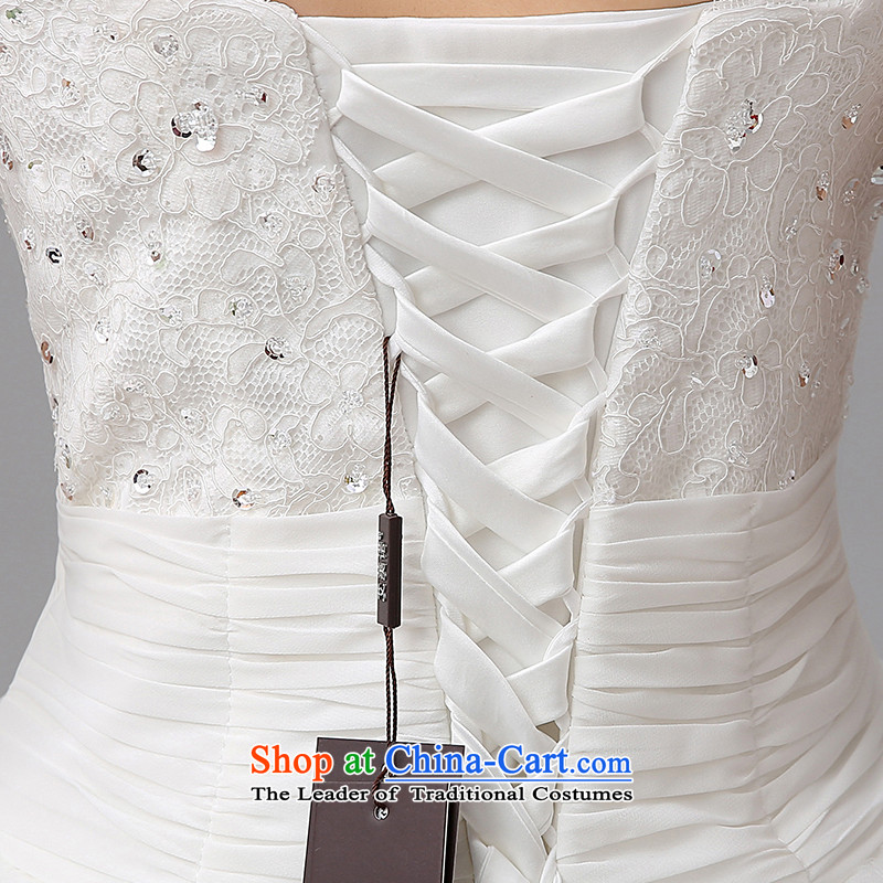 The HIV NEW 2015 wedding dress sweet lace anointed chest Korean video thin straps Sau San marriages to align the princess H-36 yarn  , L, HIV Miele White , , , shopping on the Internet