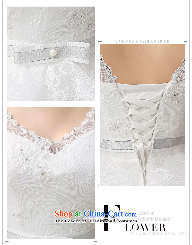Hiv Miele wedding dresses new 2015 Spring/Summer stylish large marriages Korean shoulders to align the V-Neck Strap Sau San video thin white L pictures, H-80 price, brand platters! The elections are supplied in the national character of distribution, so action, buy now enjoy more preferential! As soon as possible.