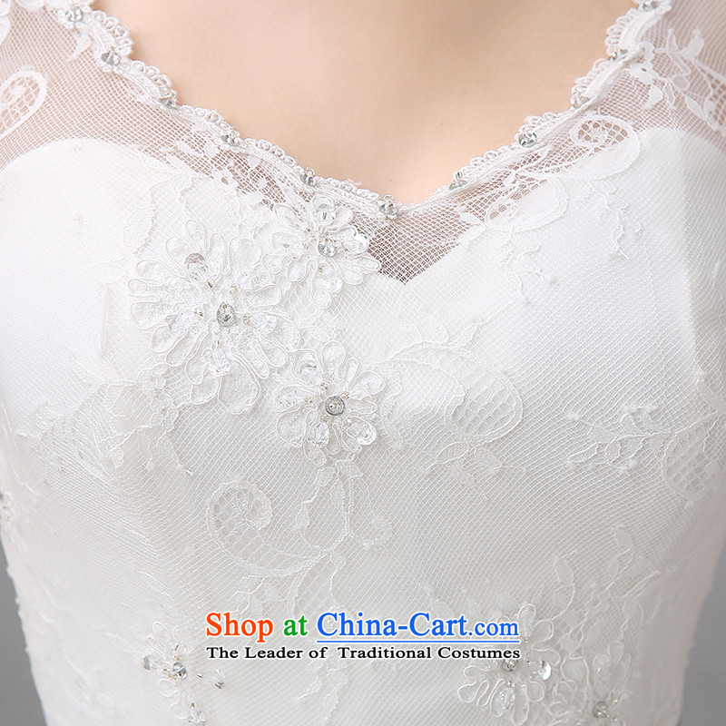 Hiv Miele wedding dresses new 2015 Spring/Summer stylish large marriages Korean shoulders to align the V-Neck Strap Sau San video thin white L, Amy H-80 Mano , , , shopping on the Internet