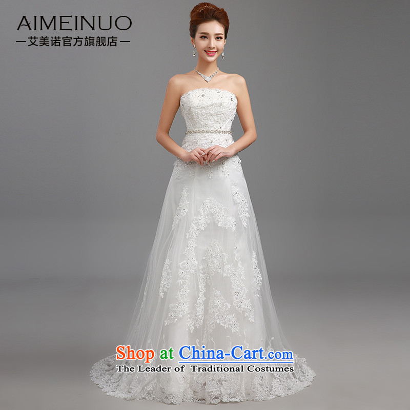 Hiv Miele wedding dresses 2015 New Silk flower buds anointed chest diamond belt irrepressible princess small trailing Korean video thin straps Sau San H-83 XXL