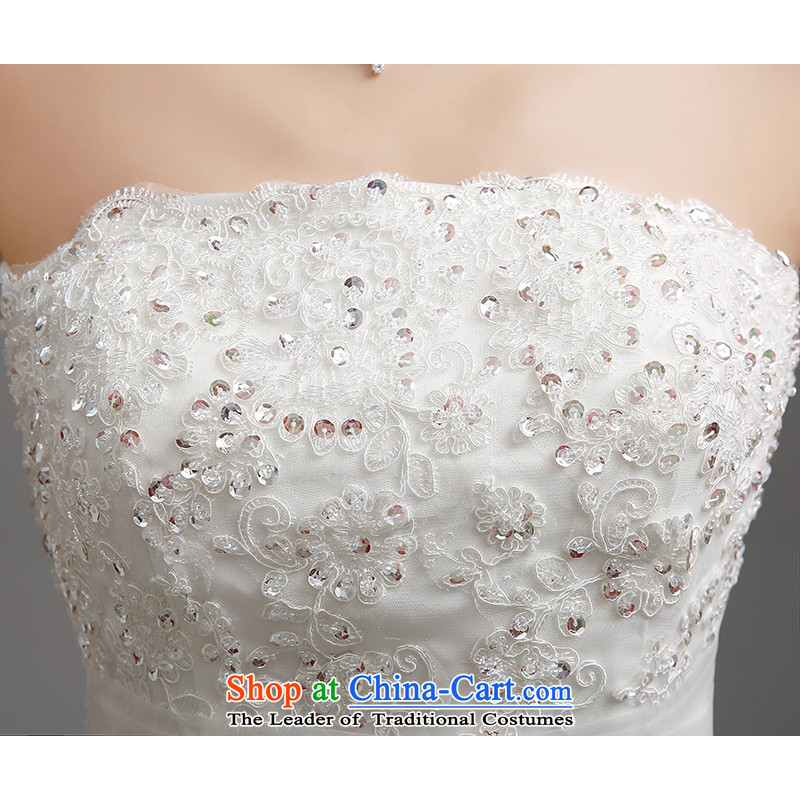 Hiv Miele wedding dresses 2015 new lace wiping the chest straps belt diamond Korean graphics package and Sau San thin princess yarn tail H-86 small white XL, HIV Miele shopping on the Internet has been pressed.