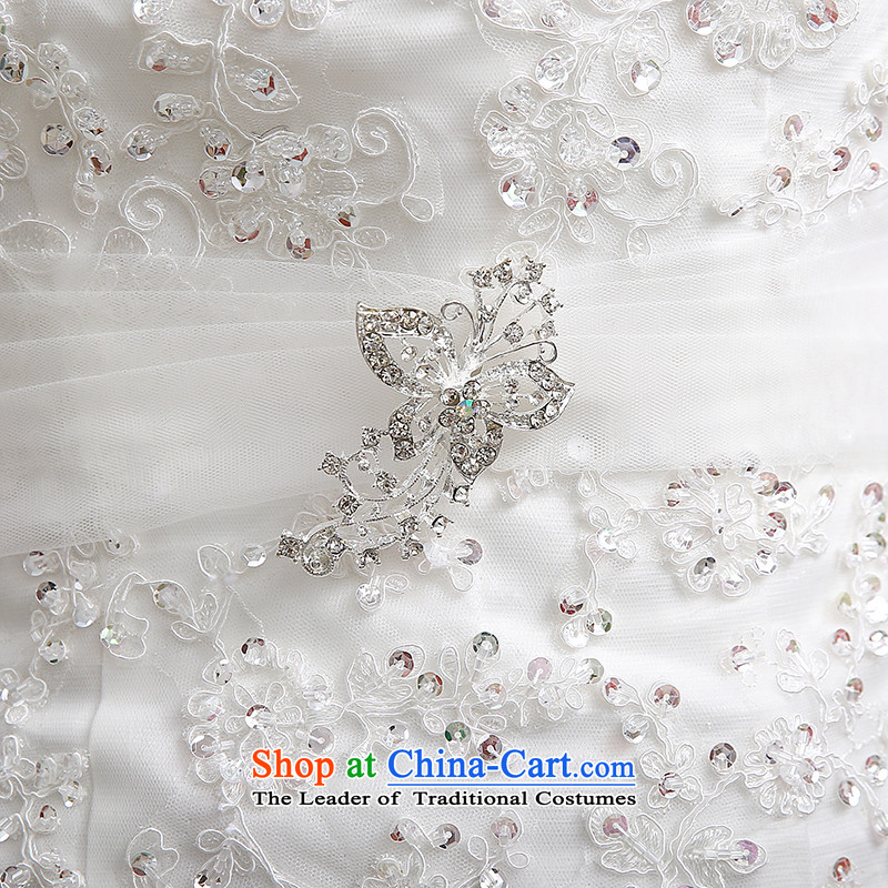 Hiv Miele wedding dresses 2015 new lace wiping the chest straps belt diamond Korean graphics package and Sau San thin princess yarn tailH-86 smallwhiteXL, HIV Miele shopping on the Internet has been pressed.