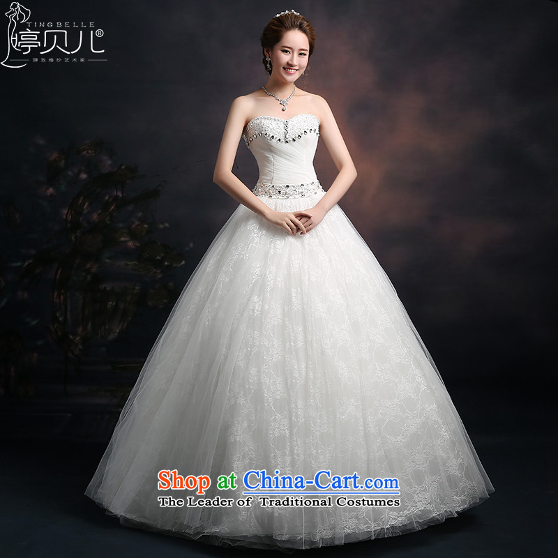 Beverly Ting wedding dresses in spring and summer 2015 new Korean anointed chest wedding video thin large autumn Sau San High Fashion Princess bon bon skirt White聽M