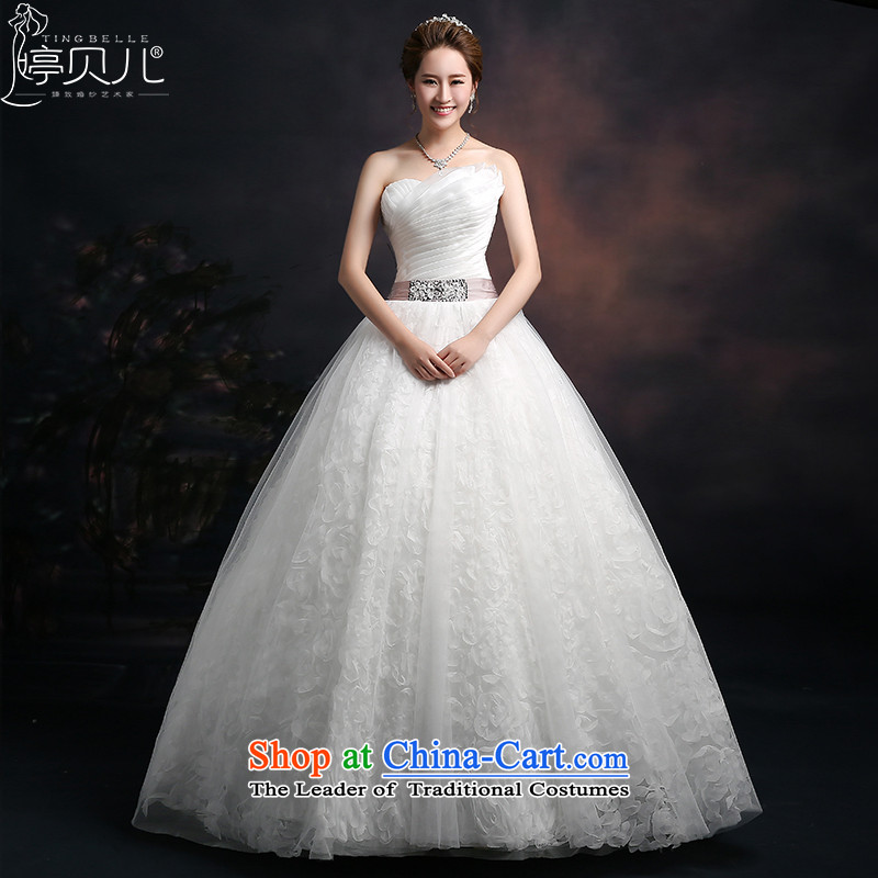Beverly Ting 2015 new spring and summer and autumn wedding chest Korean modern marriages straps wedding dresses to align graphics Sau San thin white�L