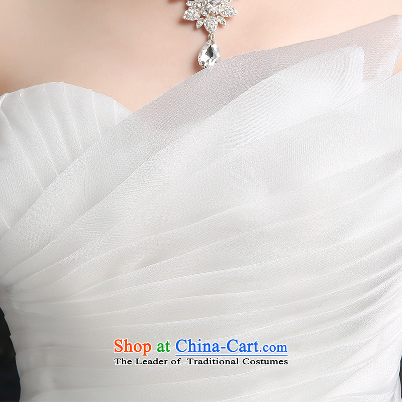 Beverly Ting 2015 new spring and summer and autumn wedding chest Korean modern marriages straps wedding dresses to align graphics Sau San thin white聽L, Beverly (tingbeier ting) , , , shopping on the Internet