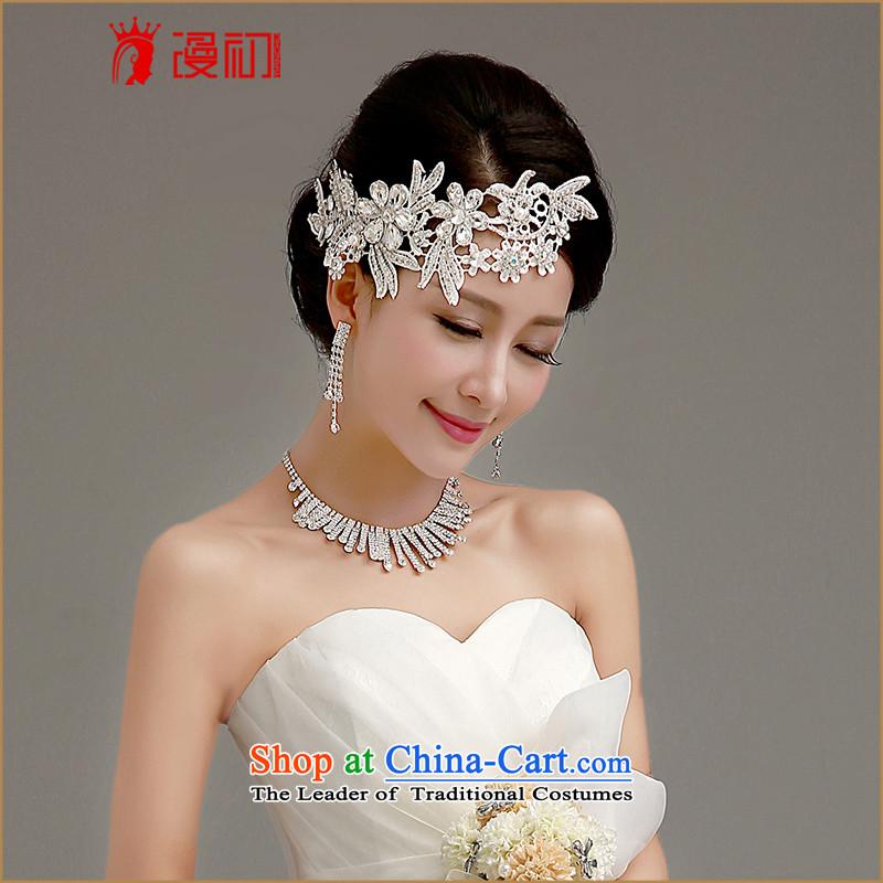 In the early2015 bride walks wedding dresses accessories Korean brides Head Ornaments necklaces earrings wedding dress Accessory Kits and ornaments