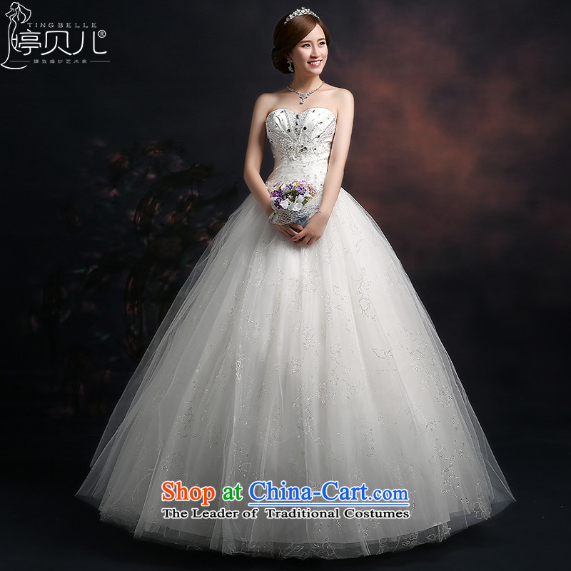Beverly Ting wedding dresses in spring and summer 2015 new marriages wedding wiping the chest to bind with large Diamond Video thin white Sau San S