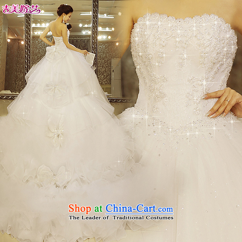 Pre-sale - American married arts wedding dresses 2015 new Korean winter wiping the chest bon bon skirt large tail It found 27,668 went bride marriage 1m tail to shoulder strap XS
