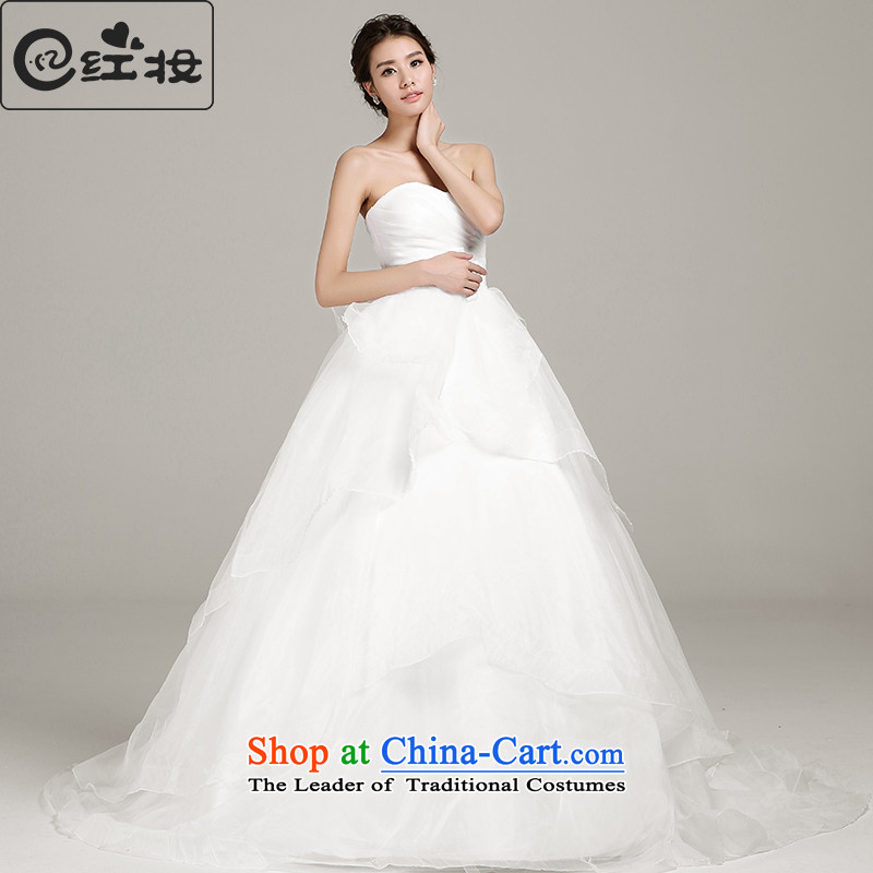 Recalling that hates makeup and the spring and summer wedding dresses new 2015 new stylish wedding trailing white retro straps drill high-end H14746 white�PUERTORRICANS temperament QUEEN)