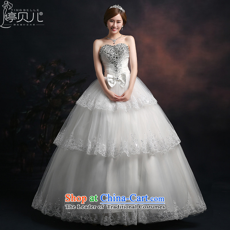 Beverly Ting wedding dresses 2015 new stylish brides fall and winter) alignment with chest strap drill white video Sau San thin bon bon skirt female white M