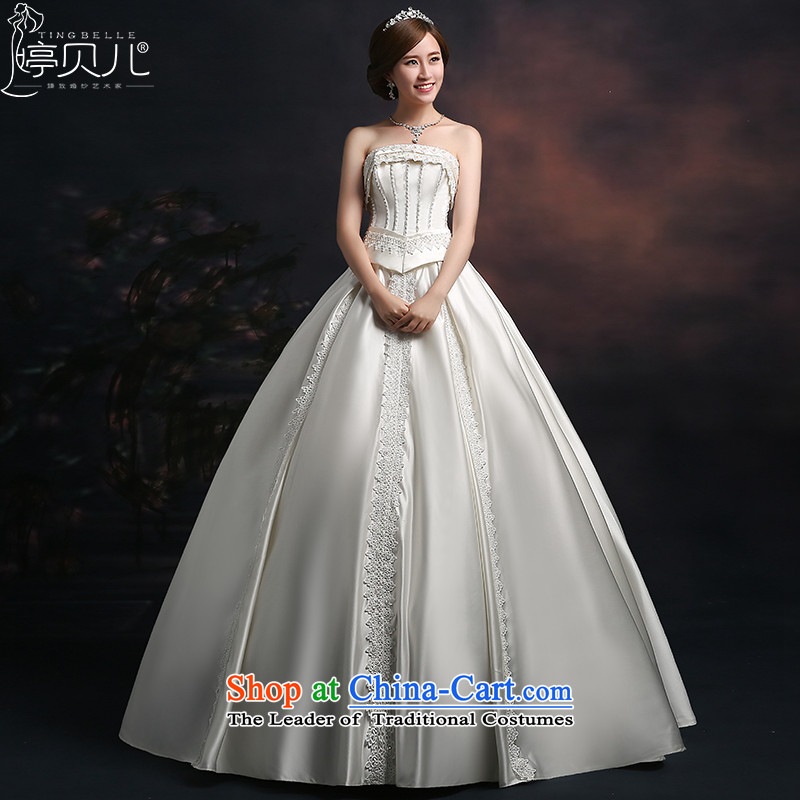 Beverly Ting wedding dresses 2015 new wedding autumn Korean Modern graphics thin Sau San wedding straps to align the large number of White XL