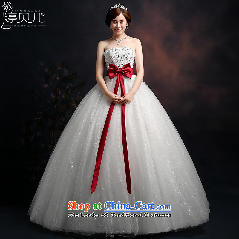 Beverly Ting 2015 new stylish wedding dresses and chest wedding video thin Foutune of big bow tie straps to align bon bon skirt white L