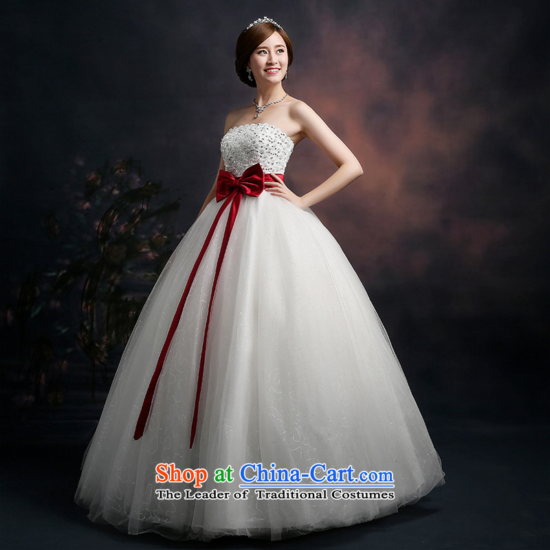 Beverly Ting 2015 new stylish wedding dresses and chest wedding video thin Foutune of big bow tie straps to align bon bon skirt white L, Beverly (tingbeier ting) , , , shopping on the Internet