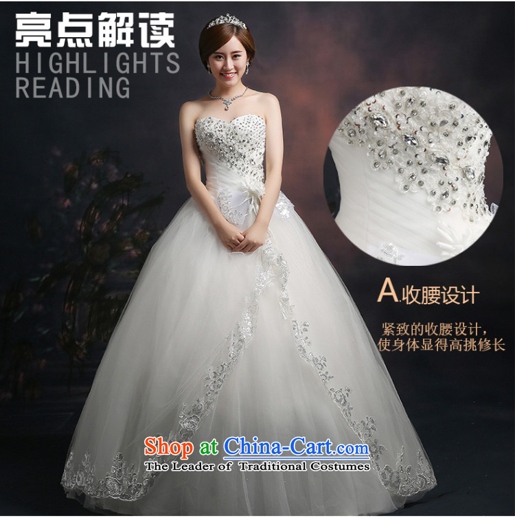 Beverly Ting 2015 new wedding video thin autumn Korean wiped Sau San chest wedding dresses diamond larger straps to align, white L picture, prices, brand platters! The elections are supplied in the national character of distribution, so action, buy now enjoy more preferential! As soon as possible.