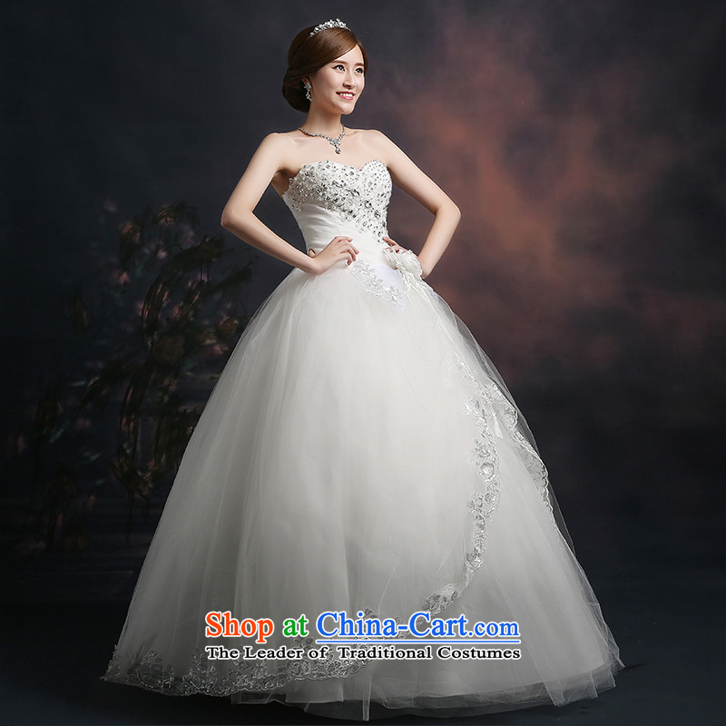 Beverly Ting 2015 new wedding video thin autumn Korean wiped Sau San chest wedding dresses diamond larger straps to align, white, L, Beverly (tingbeier ting) , , , shopping on the Internet