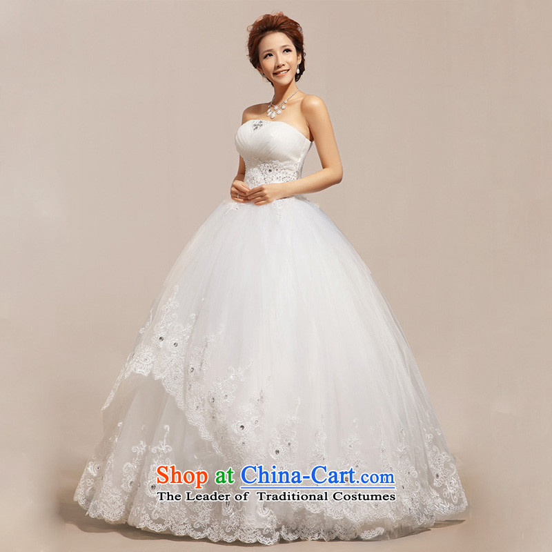 The end of the shallow wedding anointed chest Korean wedding dresses wedding to align the�CTX HS237�m White�L