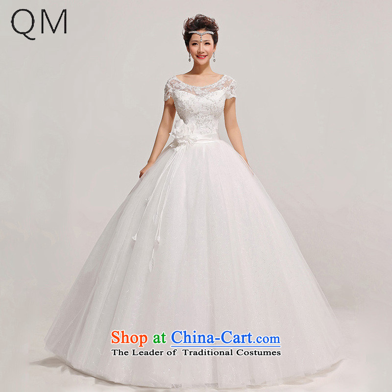 The end of the light of the word lace shoulder topped skirt the floral decorations wedding dresses?CTX HS315?White?M