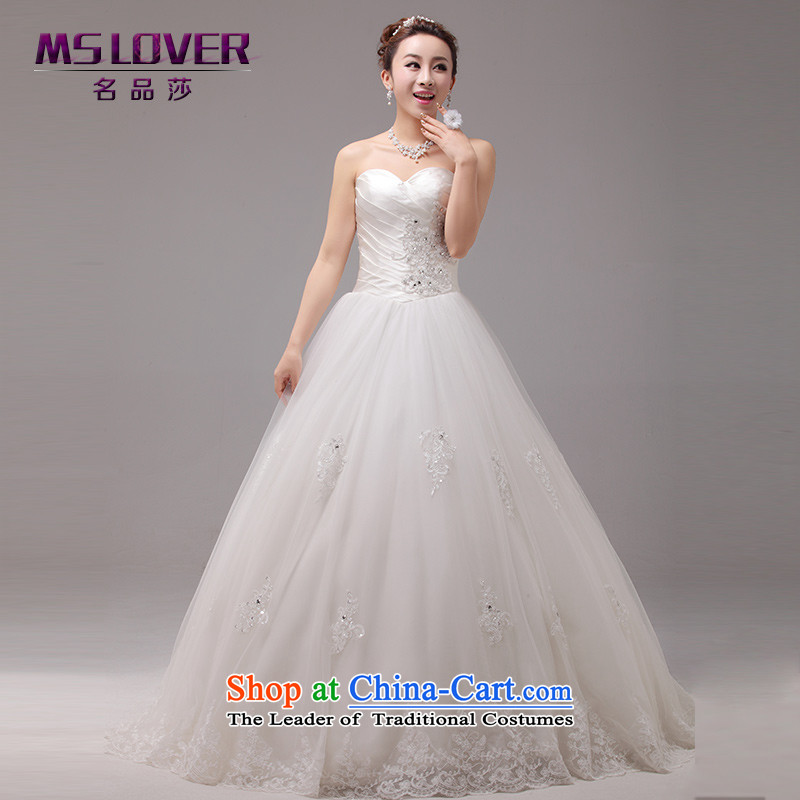聽The Korean version of sweet temperament mslover Princess Bride heart-shaped anointed chest lace Sau San to bind the video thin alignment with Wedding聽0030聽m White tailored - Contact Customer Service