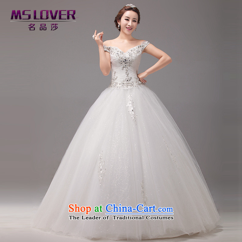 ?Elegant and sexy package mslover shoulder to shoulder a Princess Bride nail Mun-zhuhai petticoats straps to align the wedding?0104?m White tailored - Contact Customer Service