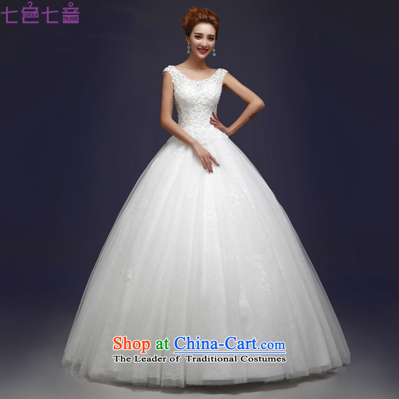 7 Color 7 tone Korean brides 2015 shoulders to align the new graphics thin large strap white hunsha wedding聽H056聽White聽M