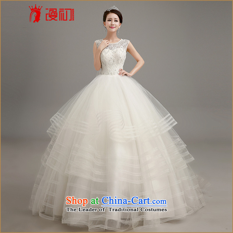 In the early 2015, wedding dresses new upscale Korean brides large tail wedding dresses a field to align the shoulder straps video thin white wedding to align the M code, spilling the early shopping on the Internet has been pressed.