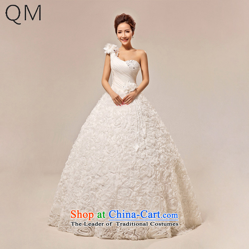 The end of the shallow wedding dresses Princess Bride to align the sweet shoulder and chest wedding?CTX HS291?m White?S