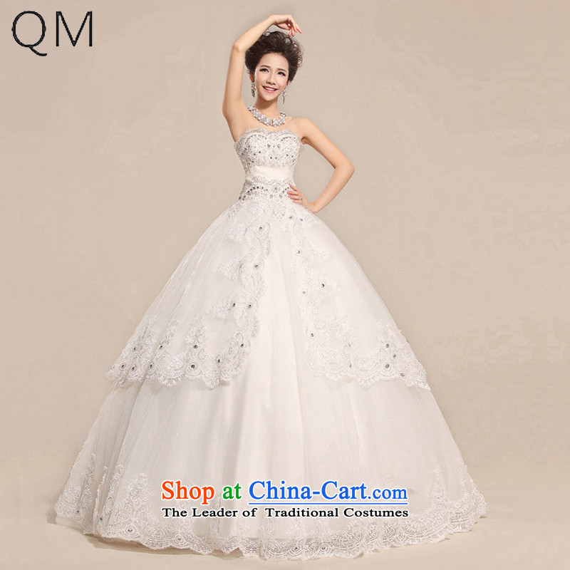 The end of the light (QM) lights are decorated with chest lace noble pregnant women Top Loin of wedding dresses�CTX HS033�m White�XL
