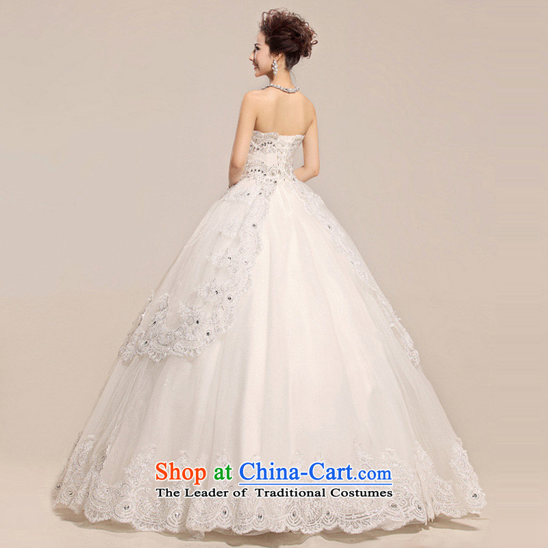 The end of the light (QM) lights are decorated with chest lace noble pregnant women Top Loin of wedding dresses CTX HS033 m White XL, light at the end of shopping on the Internet has been pressed.