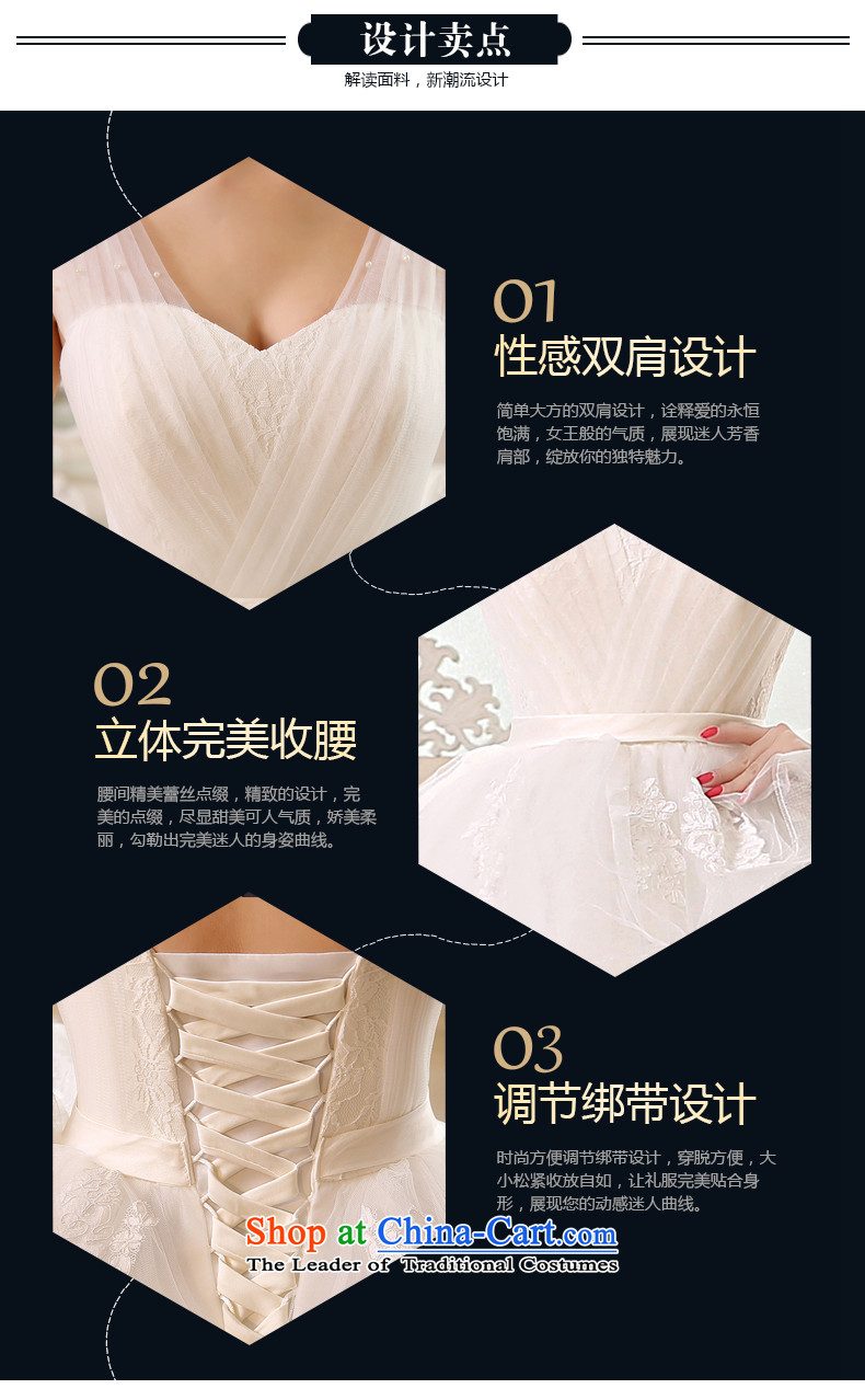 Rain-sang yi bride Wedding 2015 new wedding dress white shoulders stylish video princess thin large stapler alignment with pearl whiteL HS891 wedding pictures, prices, brand platters! The elections are supplied in the national character of distribution, so action, buy now enjoy more preferential! As soon as possible.