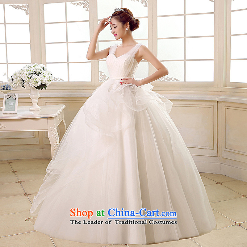 Rain-sang yi bride Wedding 2015 new wedding dress white shoulders stylish video princess thin large stapler alignment with the Pearl River Delta wedding HS891 white L, rain-sang Yi shopping on the Internet has been pressed.