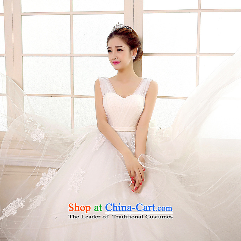 Rain-sang yi bride Wedding 2015 new wedding dress white shoulders stylish video princess thin large stapler alignment with the Pearl River Delta wedding HS891 whiteL, rain-sang Yi shopping on the Internet has been pressed.