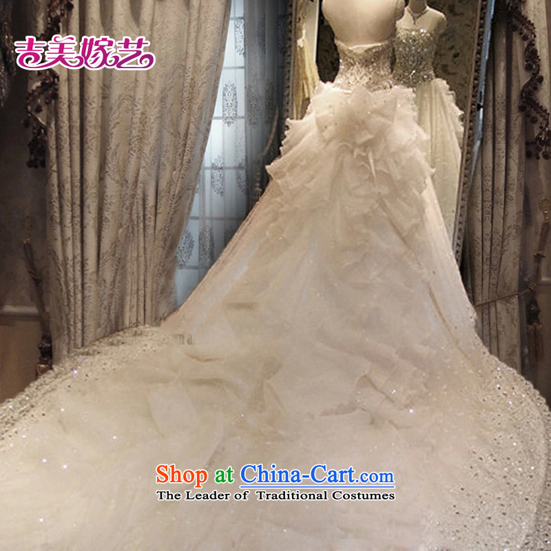 Pre-sale - American married arts wedding dresses 2015 new Korean anointed chest video thin crystal drill tail 7660 bride wedding 1m tail S Kyrgyz-american married arts , , , shopping on the Internet