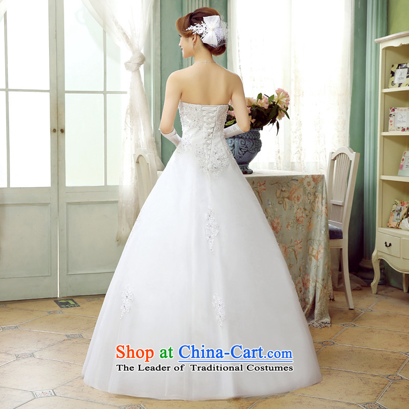 Wedding white 2015 autumn and winter new Korean sweet diamond wiping the chest to align the Princess Bride lace tie A field petticoats wedding white S, hundreds of Ming products , , , shopping on the Internet