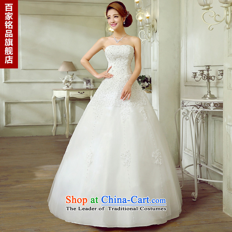 Wedding white autumn and winter,�2015 New sexy anointed chest Korean Diamond High A Skirt Foutune of graphics to align with thin wedding new white�L