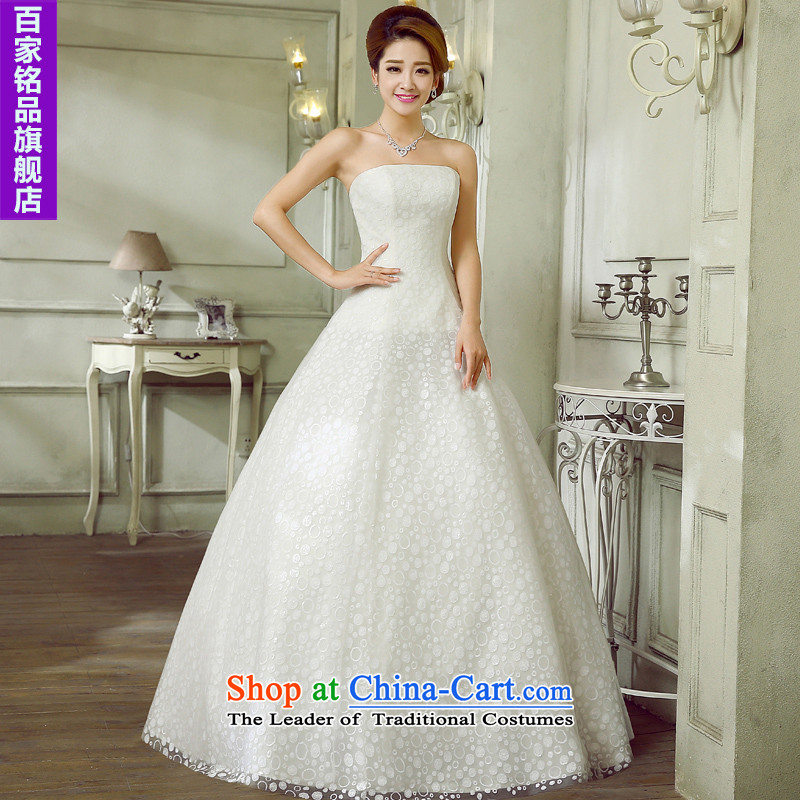 Wedding marriage with the�new 2015 Diamond Korean anointed chest Foutune of A thin graphics skirt to align with the white bon bon skirt wedding dresses white�L