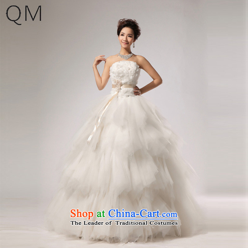 The end of the light _QM_ VERY elegant sweet brides WANG retro chest stylish wedding anointed聽CTX HS268聽m White聽XXL