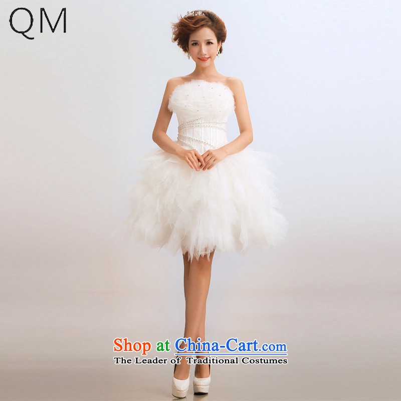 The end of the light (QM) short, multi-colored marriages wedding dress will�CTX LF67�m White�XXL