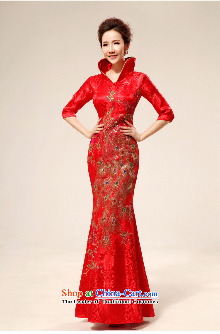 The end of the light (QM) back door onto the design of the ceremonial dress red dress CTX QP71 load bows red S picture, prices, brand platters! The elections are supplied in the national character of distribution, so action, buy now enjoy more preferential! As soon as possible.