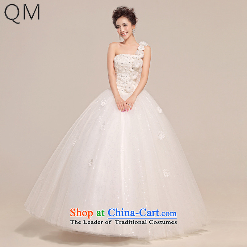 The end of the light _QM_ Wedding shoulder straps wedding Top Loin of pregnant women to align the wedding dresses?CTX HS510?White?XXL