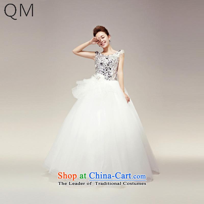 The end of the light _QM_ Wedding on drill shoulders wedding bride wedding marriage wedding CTX HS263 m White XL
